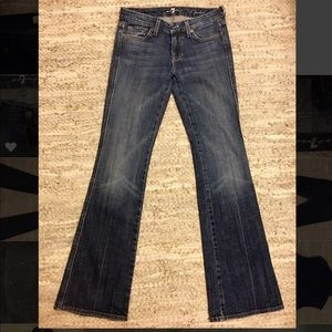 """7 for all mankind denim """"A-pocket"""" flare size 26"""